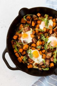 Whole30 Sweet Potato Breakfast Hash with Bacon (Paleo)