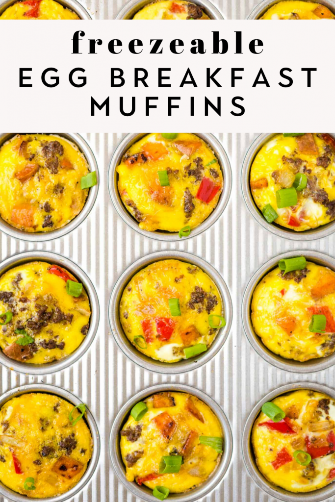 Freezeable Egg Breakfast Muffins
