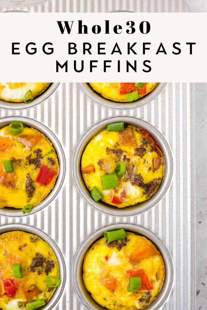 Whole30 Egg Breakfast Muffins in muffin tin