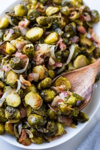 Maple Roasted Brussels Sprouts with Bacon (Paleo)