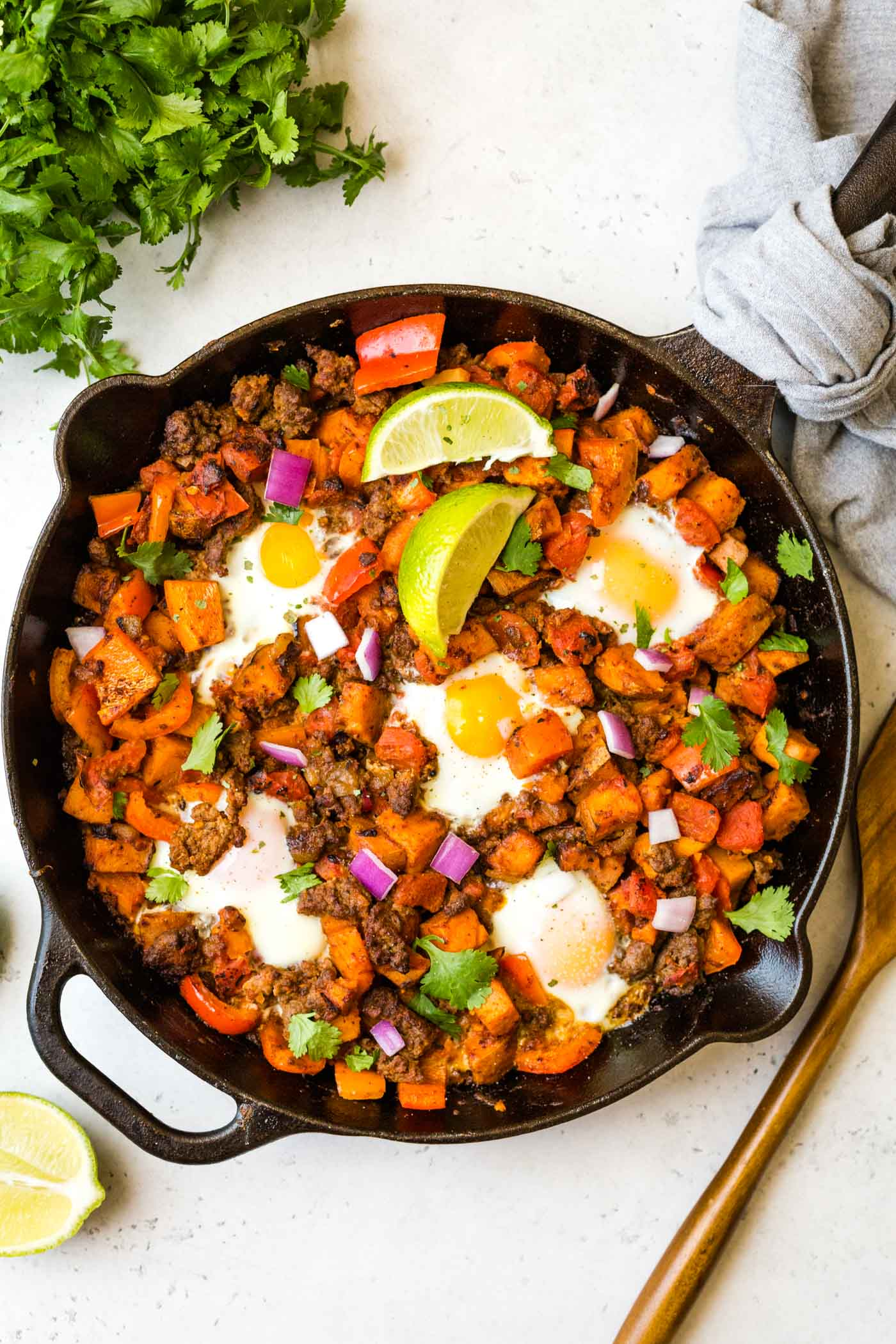 Sweet Potato Hash with Sausage