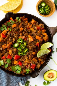 Easy Sweet Potato Taco Skillet (Paleo, Whole30)