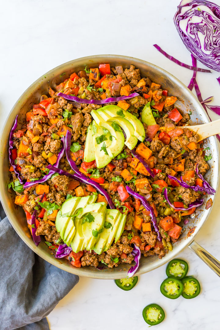 taco skillet with sweet potatoes