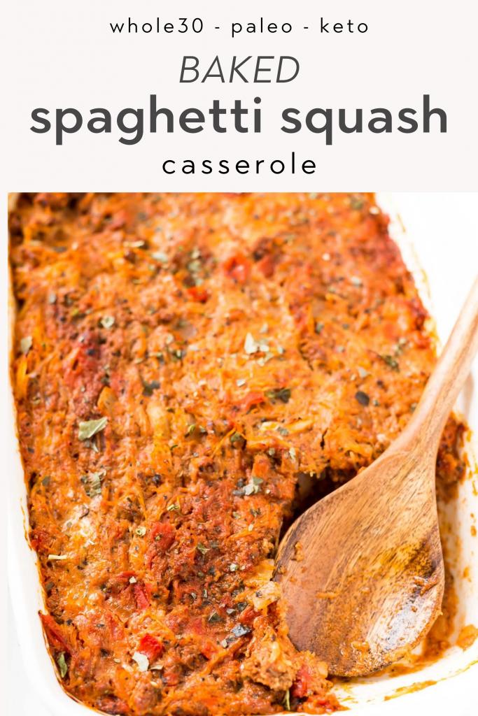 whole30 baked spaghetti squash casserole