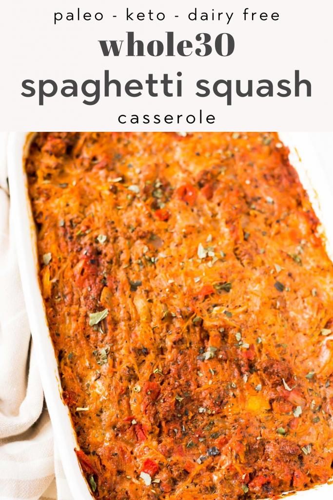 whole30 spaghetti squash casserole