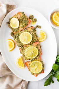 Easy Dijon Baked Salmon (Paleo, Whole30, Keto)