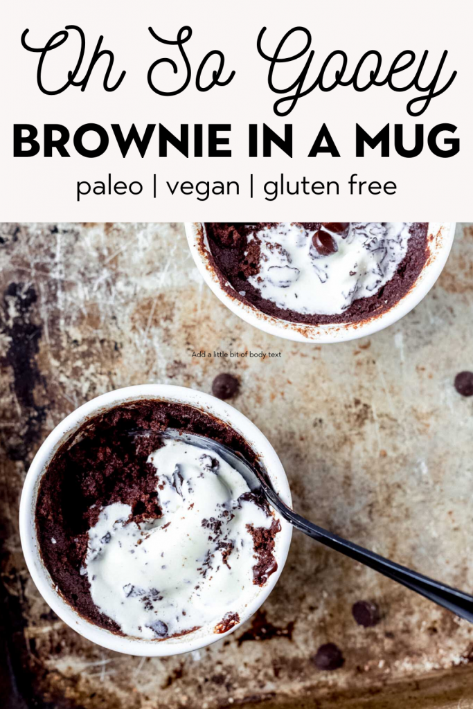 Gooey Brownie In A Mug Paleo Vegan Gluten Free The Healthy Consultant