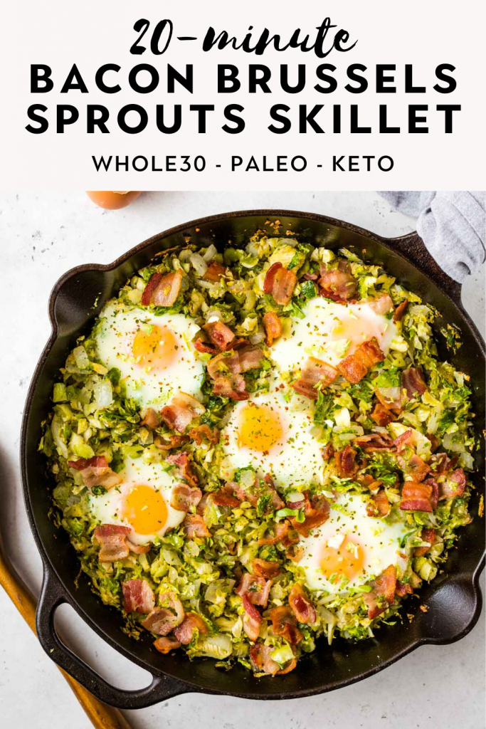 20-minute bacon brussels sprouts skillet