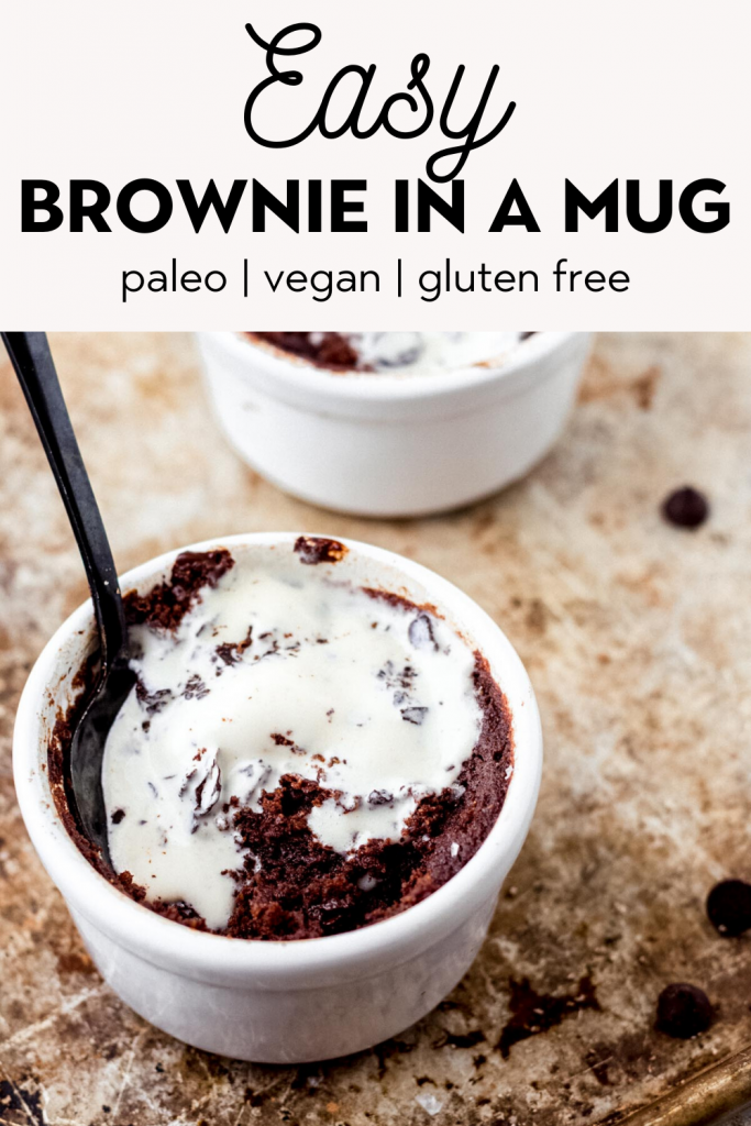 Gooey Brownie In A Mug Paleo Vegan Gluten Free The Healthy Consultant
