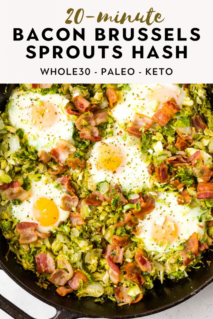 bacon brussels sprouts egg hash