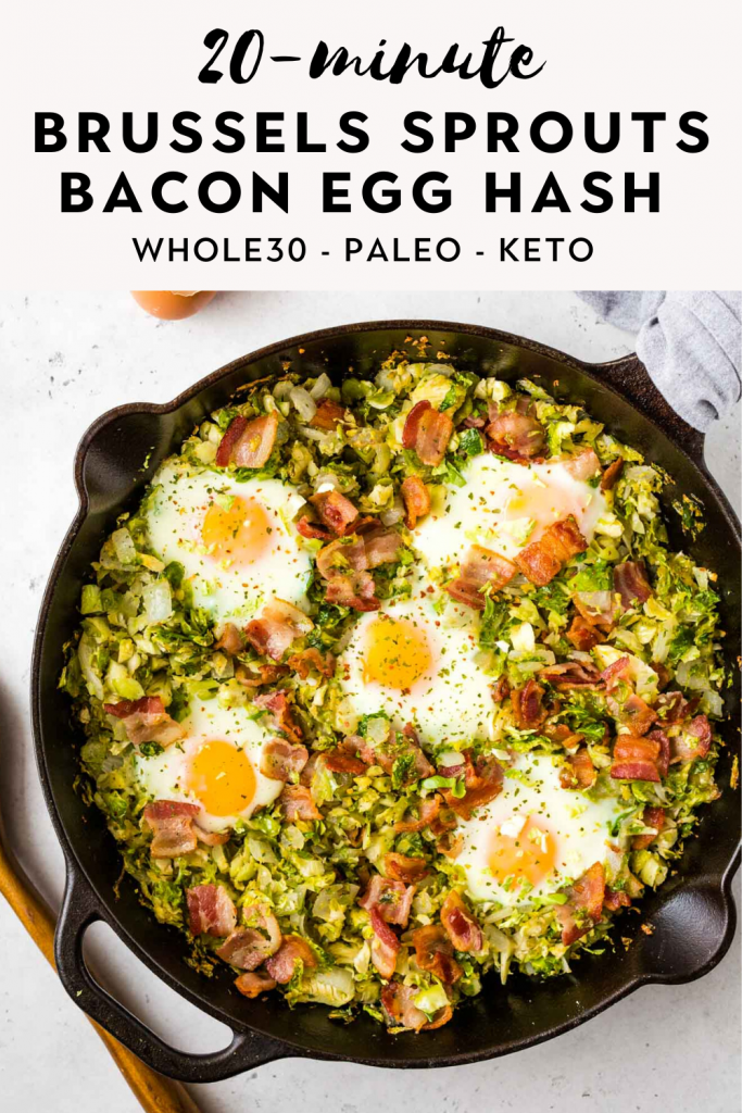 brussels sprouts bacon egg hash