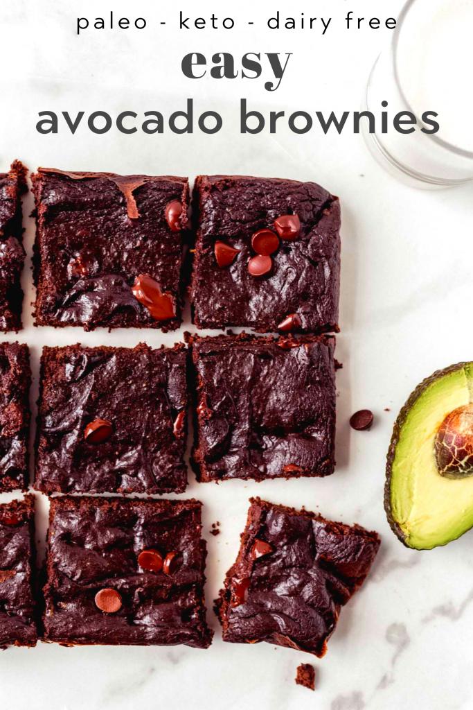 easy avocado brownies