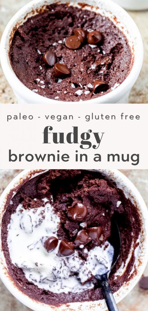 paleo brownie in a mug