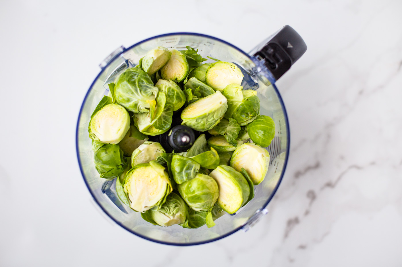 whole brussels sprouts in food processor