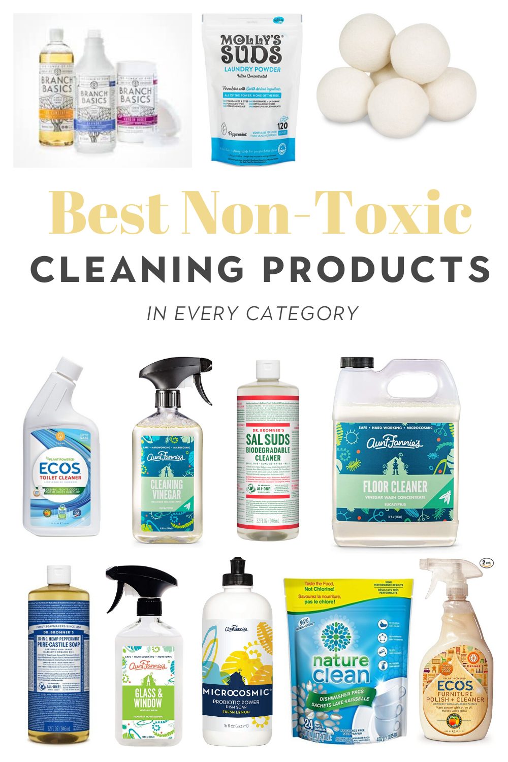 Best non-toxic cleaning products in every category