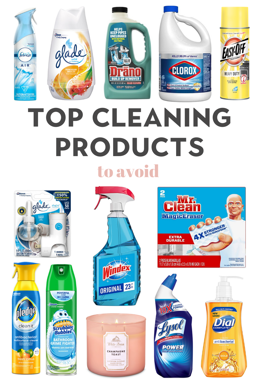 Top toxic cleaning products to avoid