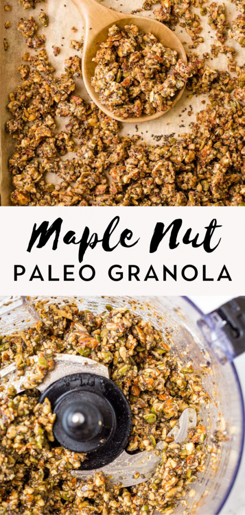 Maple Nut paleo granola
