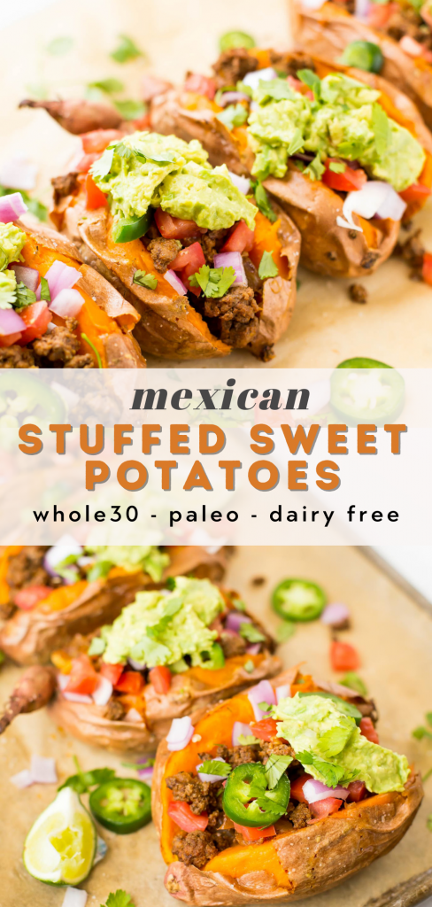 paleo mexican stuffed sweet potatoes