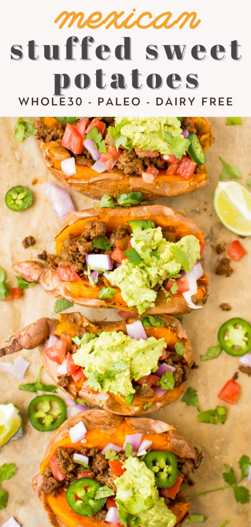 whole30 mexican stuffed sweet potatoes