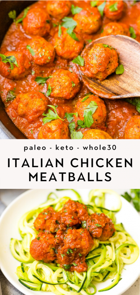 Baked Paleo Chicken Meatballs