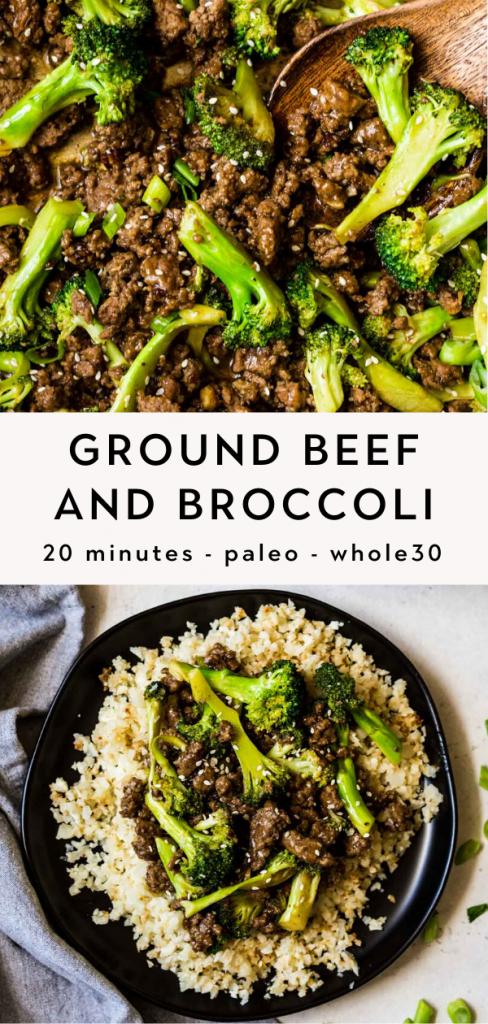 Keto ground beef and broccoli stir fry