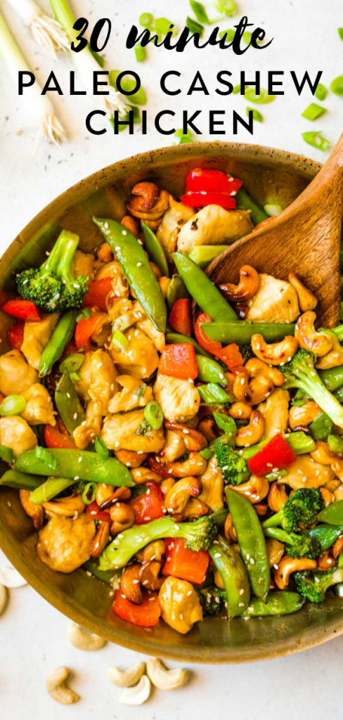 Paleo Cashew Chicken Stir Fry