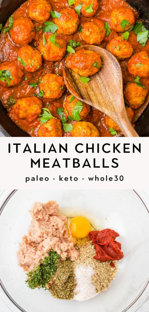 Paleo Italian Chicken Meatballs