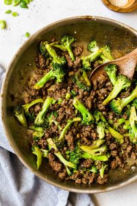 Stir Fry Ground Beef and Broccoli (Keto, Paleo, Whole30)