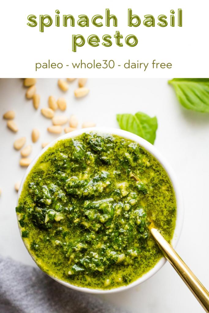 dairy free spinach basil pesto