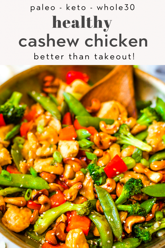 healthy stir fry cashew chicken