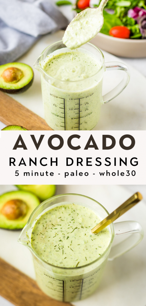 Easy Avocado Ranch Dressing