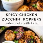 Paleo spicy chicken zucchini poppers