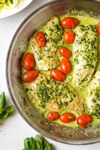 Creamy Pesto Chicken Skillet (Paleo, Whole30)