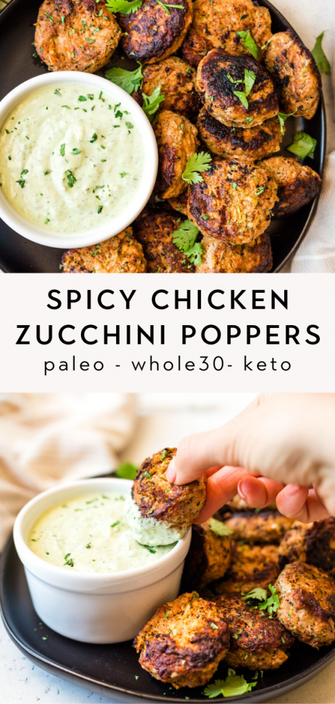 Spicy chicken zucchini poppers