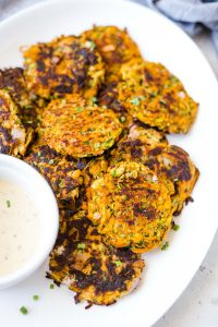 Zucchini and Sweet Potato Fritters (Paleo, Whole30)