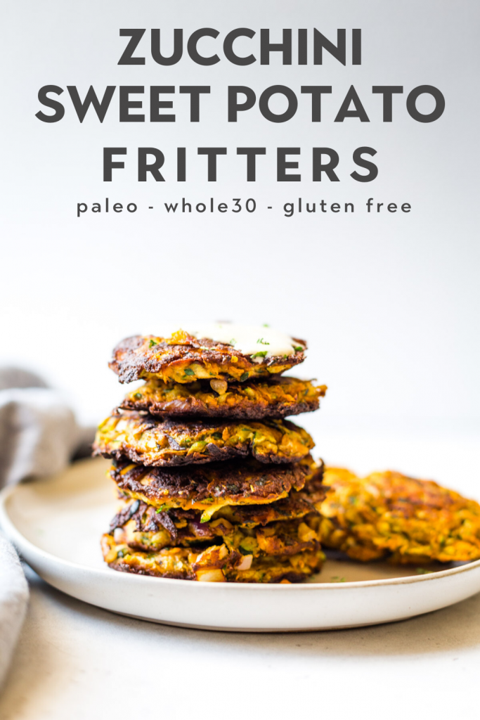 Zucchini And Sweet Potato Fritters Paleo Whole30 The Healthy Consultant