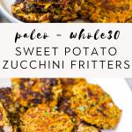 gluten free sweet potato zucchini fritters
