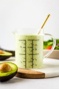5-minute Avocado Ranch Dressing (Paleo, Whole30)