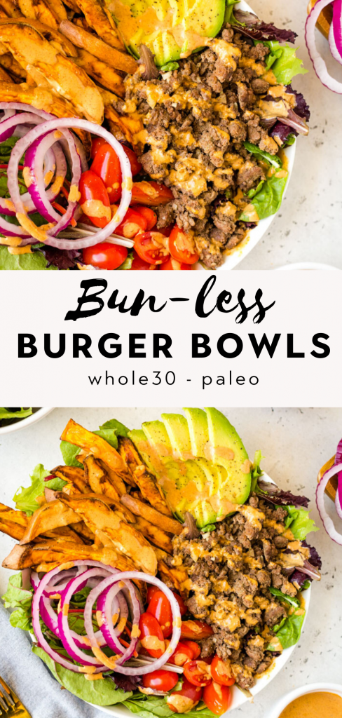 bunless burger bowls