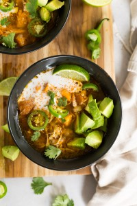 Instant Pot White Chicken Chili (Paleo, Whole30)