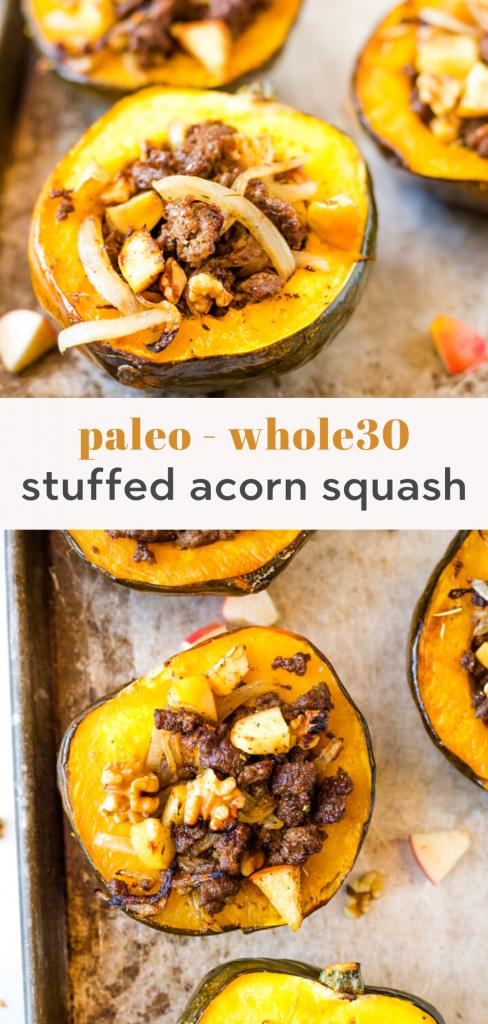 paleo stuffed acorn squash