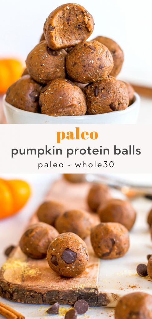 Healthy pumpkin protein balls