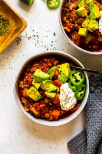 Sweet Potato Turkey Chili (Whole30, Paleo)