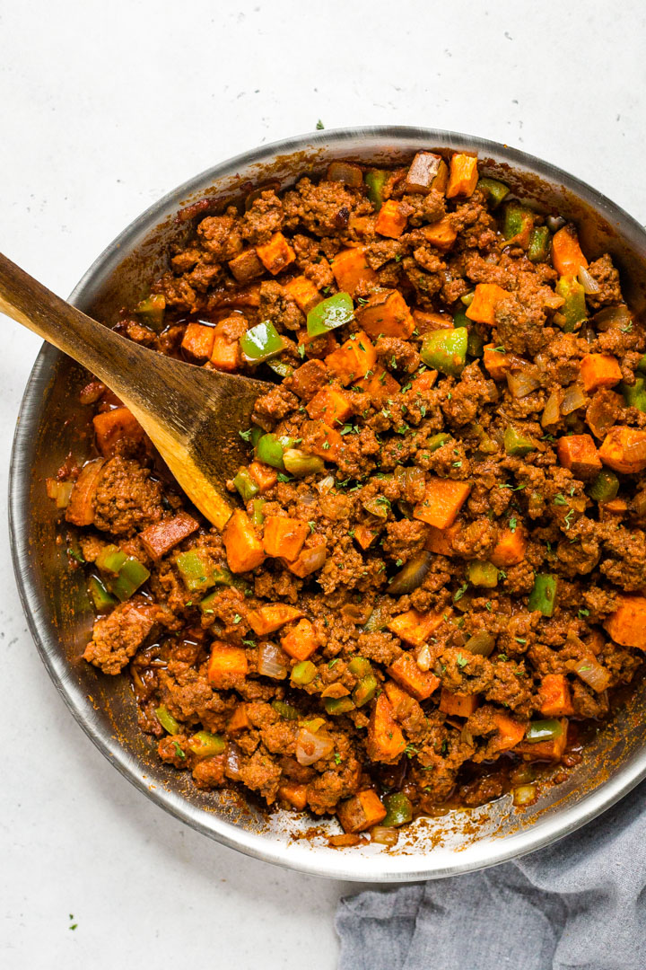 Whole30 sweet potato sloppy joe skillet recipe