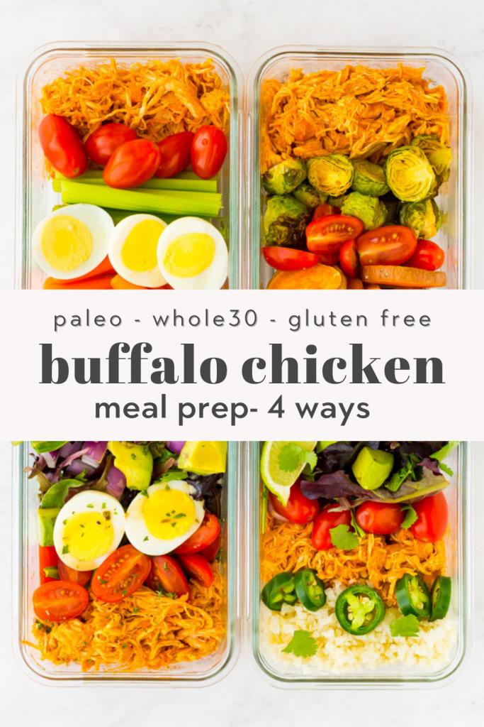 easy buffalo chicken meal prep