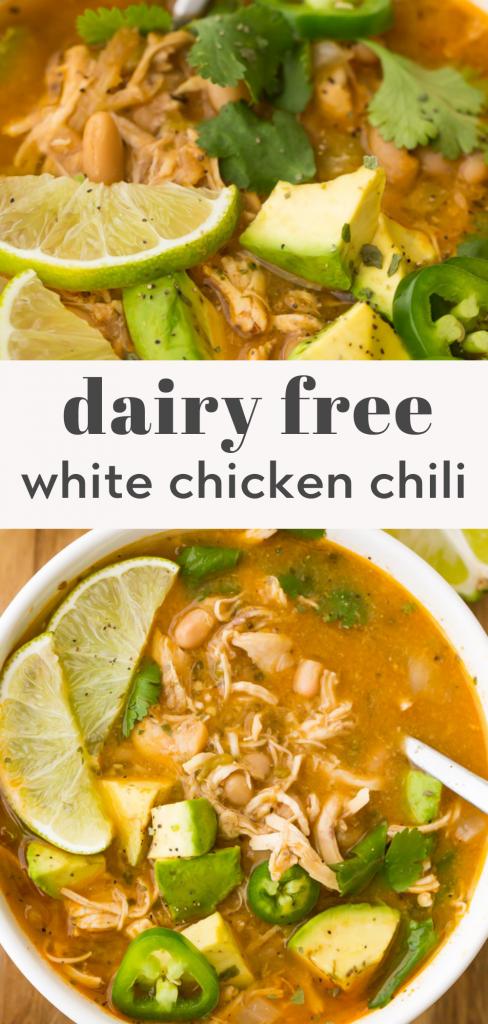 dairy free white chicken chili