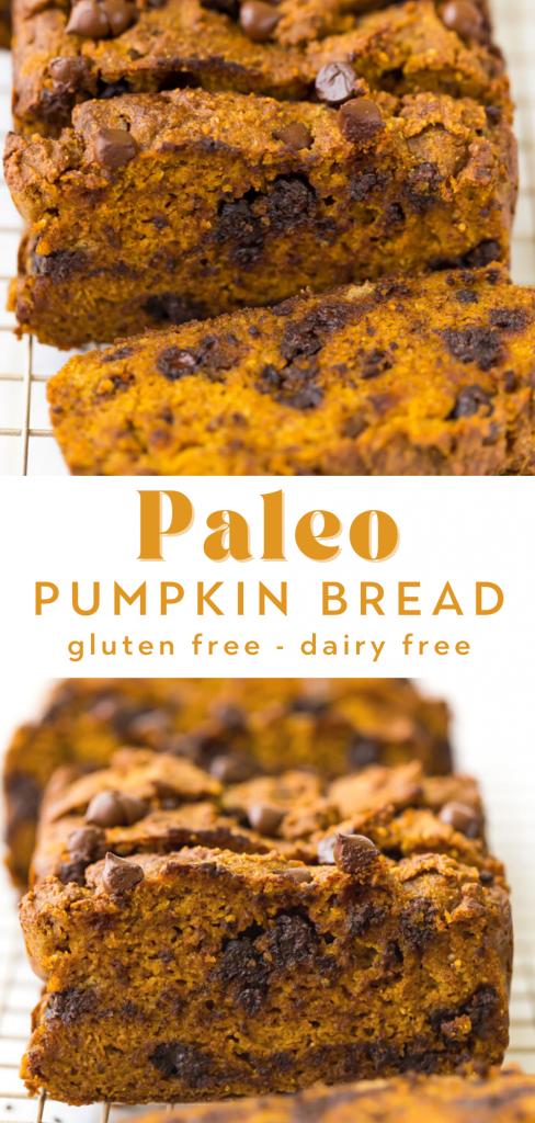 chocolate chip paleo pumpkin bread