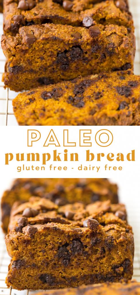 paleo chocolate chip pumpkin bread