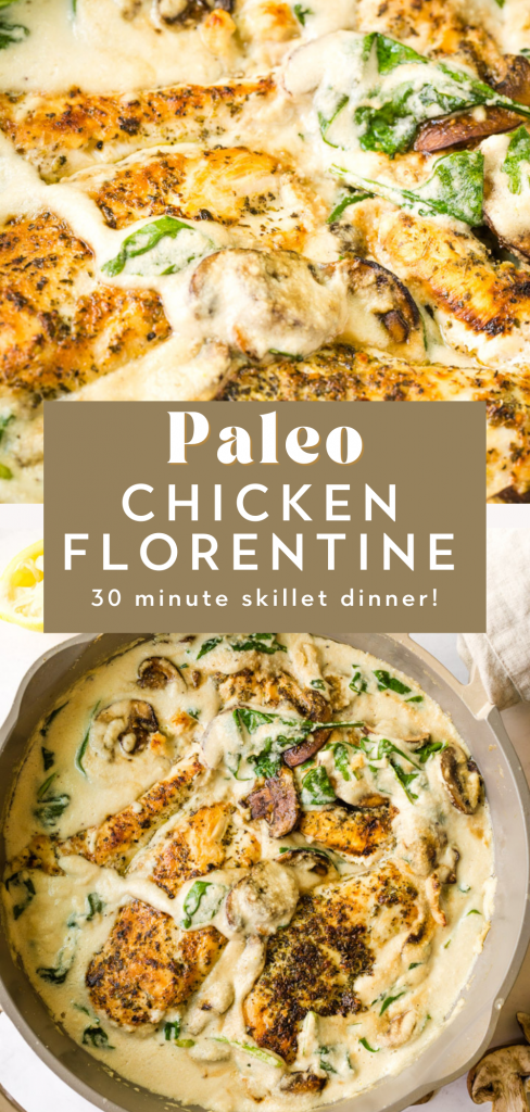 Paleo chicken florentine
